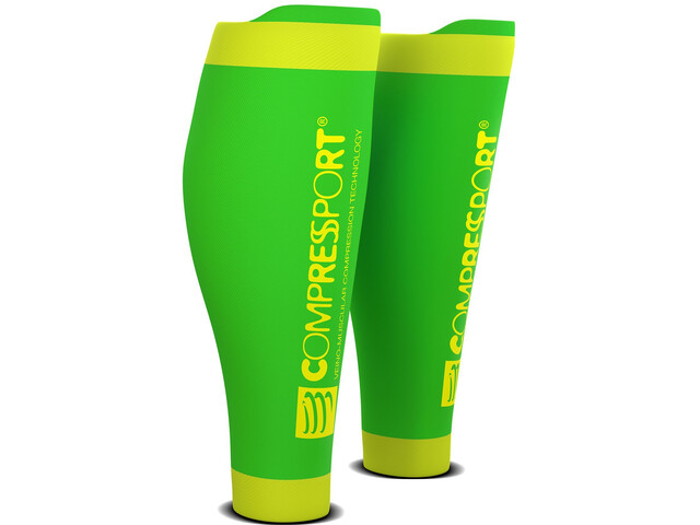 Compressport R2V2 Wadenkompressoren fluo green
